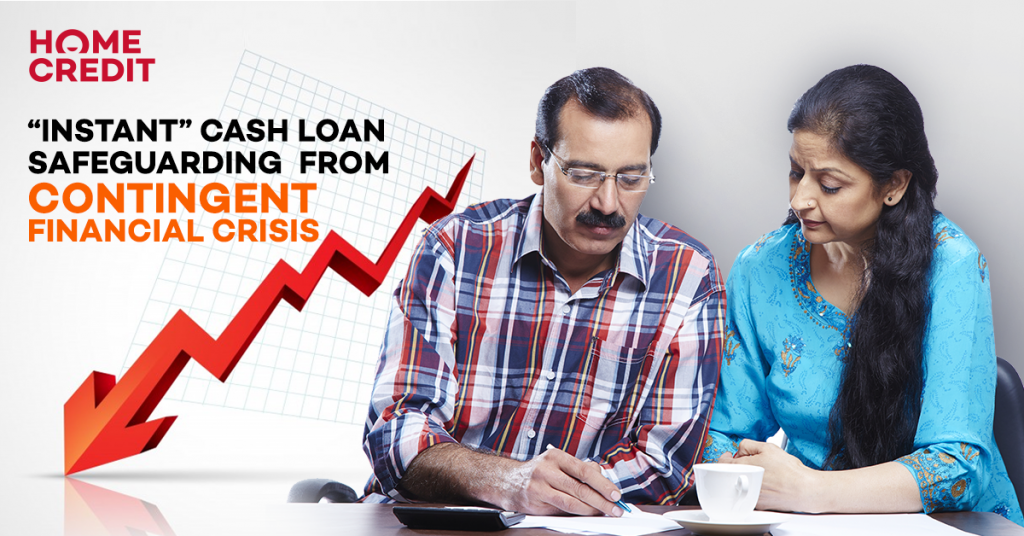 """Instant"" cash loan safeguarding from contingent financial crisis"